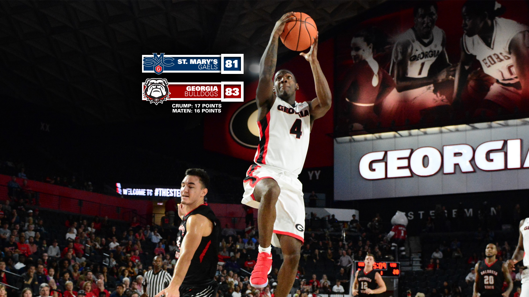 Georgia Downs No 21 St Mary s in Overtime 83 81