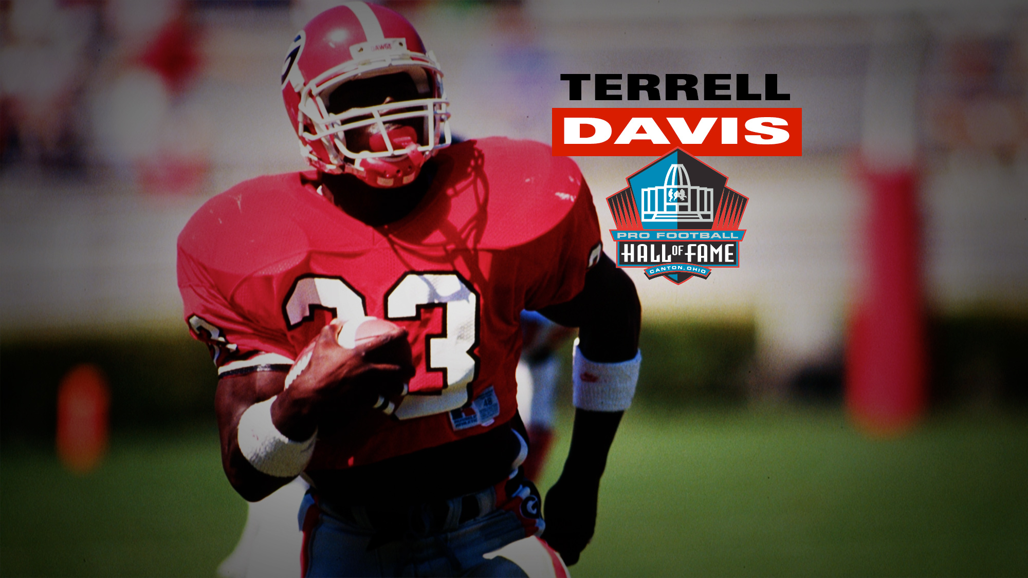 brand new a0459 2bd36 Terrell Davis Enshrined into Pro Football Hall of Fame ...