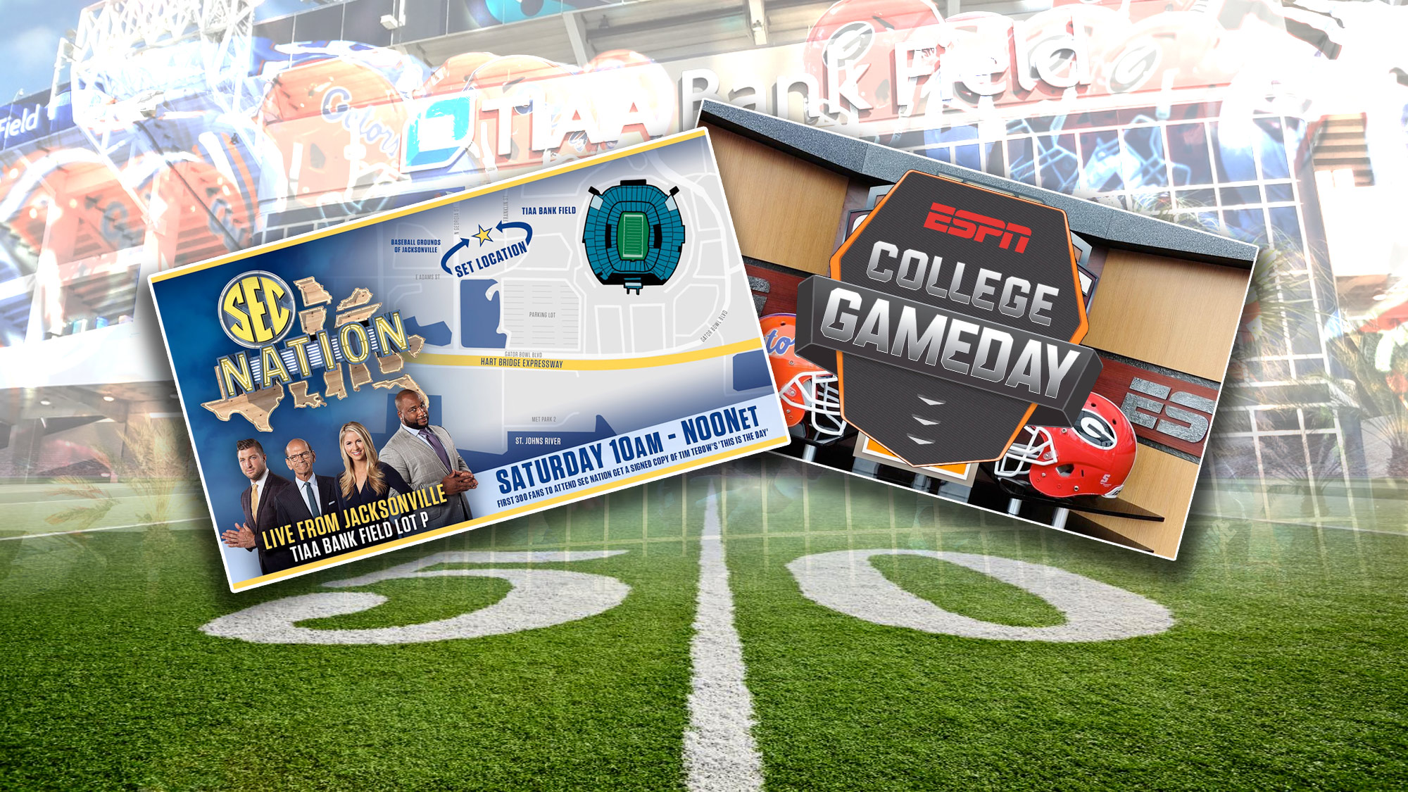 SEC Nation and ESPN Gameday Coming to Jacksonville