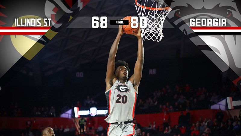 Strong First-Half Highlights 80-68 Georgia Victory over Illinois State - University of Georgia