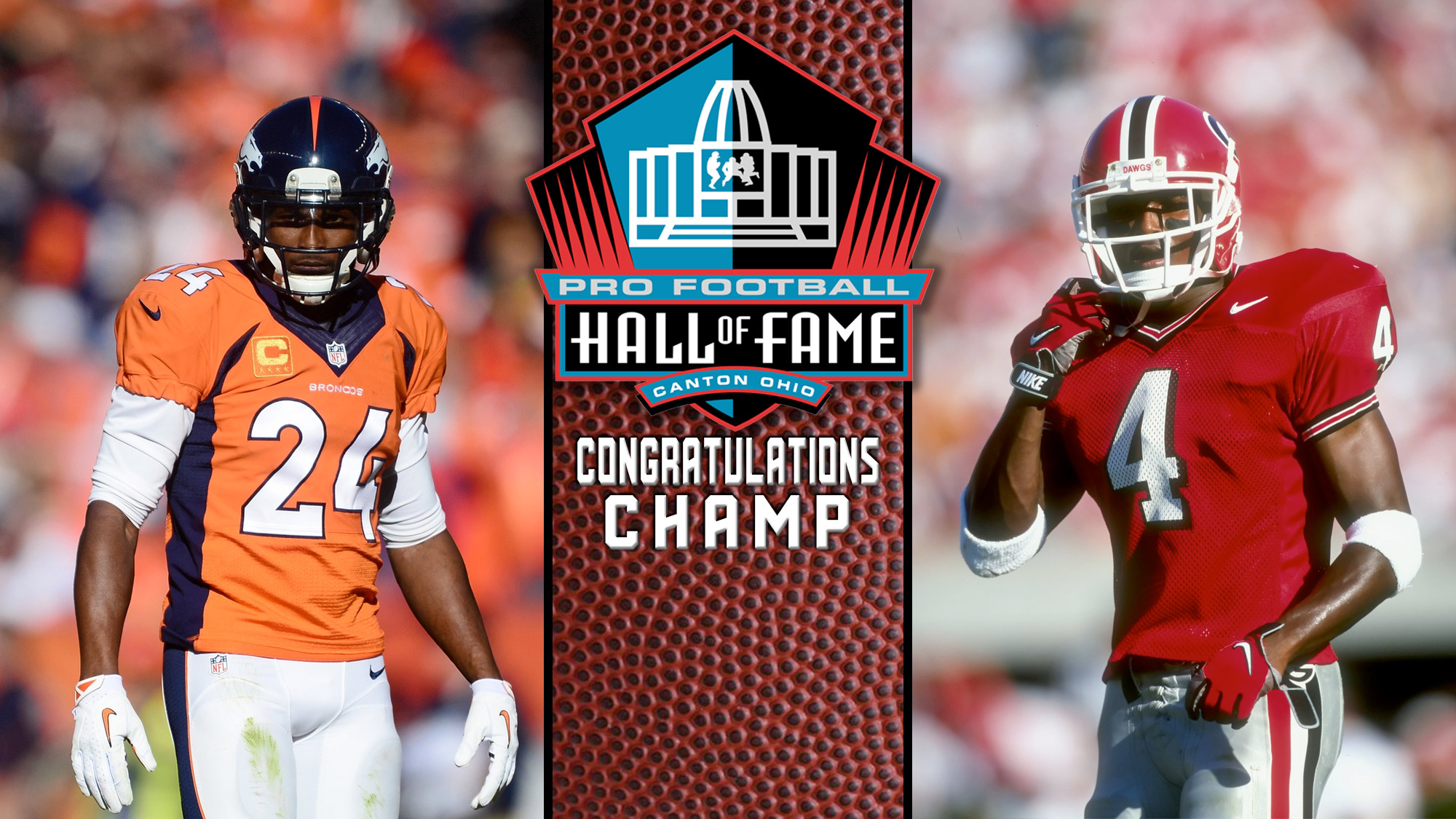 Champ bailey named to pro football hall of fame university jpg 2000x1125 Champ  bailey career stats 2276abe5b
