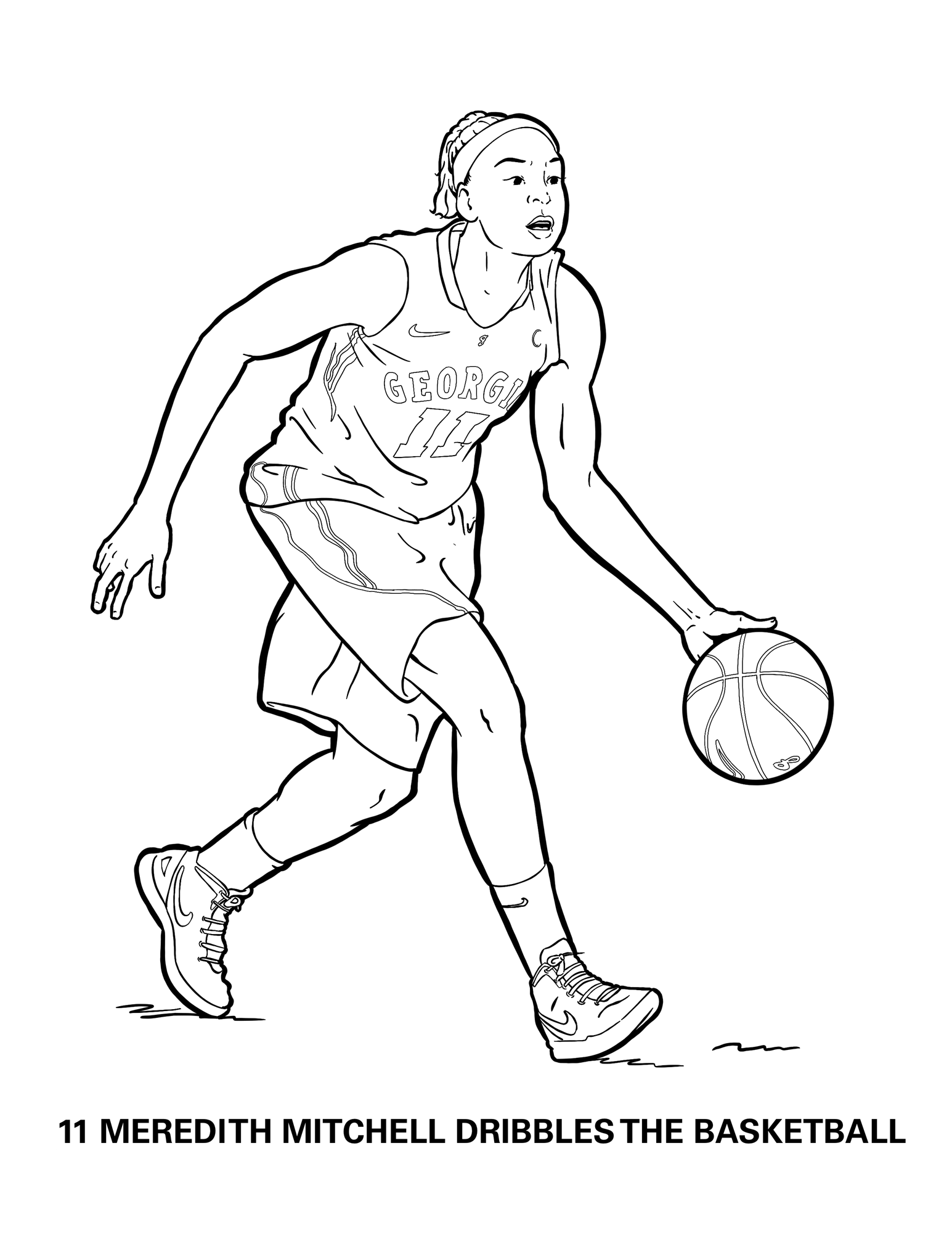 College Basketball Logo - Coloring Pages For Kids And For Adults ... | 2000x1545